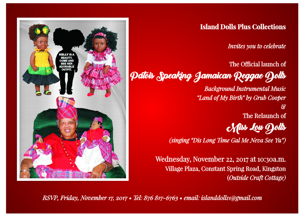 The Launch of the Patios Speaking Jamaican Reggae Dolls