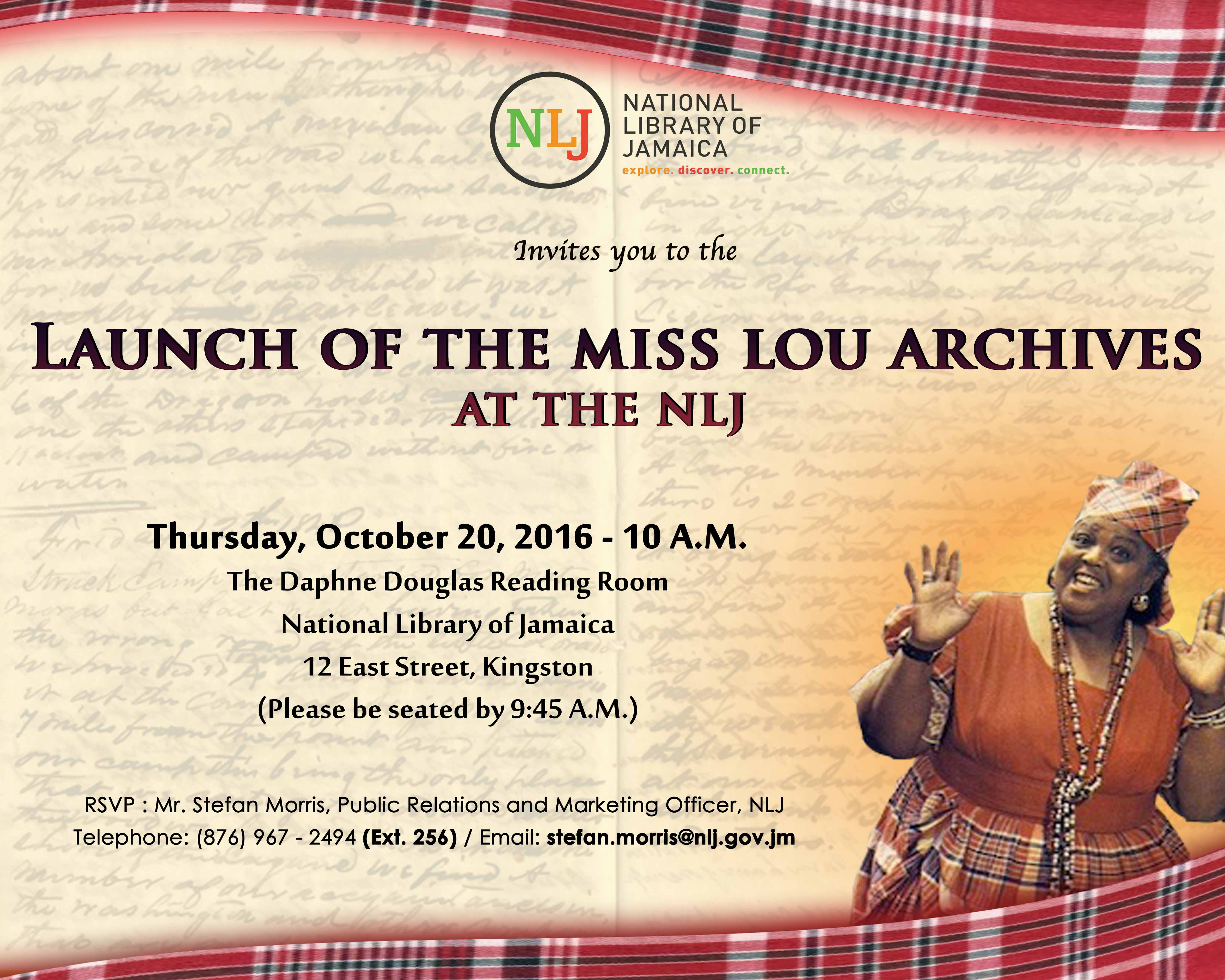Launch of The Miss Lou Archives at the NLJ
